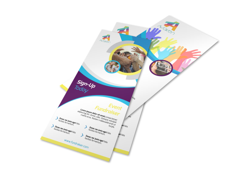 Colorful Fundraising Event Flyer Template MyCreativeShop