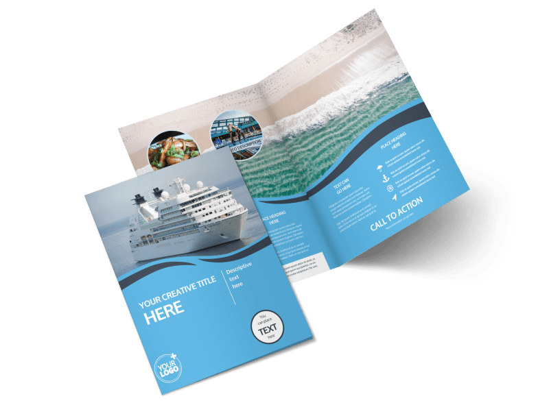 Cruise Ship Travel Brochure Template MyCreativeShop