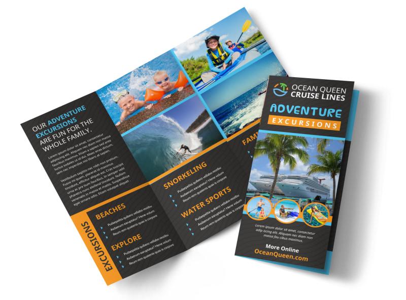 Cruise Ship Travel Brochure Template MyCreativeShop - tourist brochure template