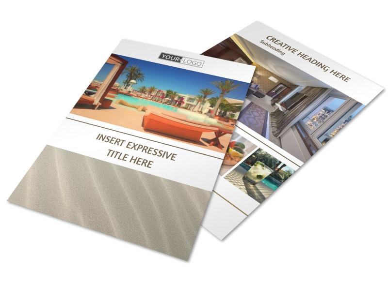 Luxury Hotels Flyer Template MyCreativeShop - hotel brochure template