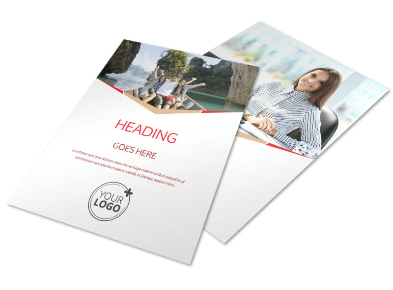 Leading Travel Agents Flyer Template MyCreativeShop - flyer template