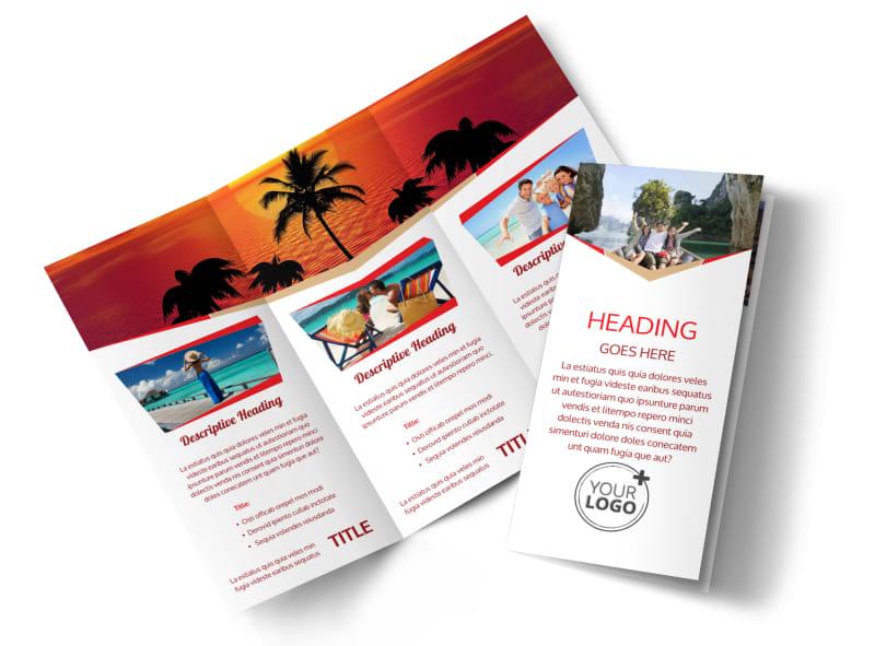 Travel Brochure Template 3 Fold Costumepartyrun