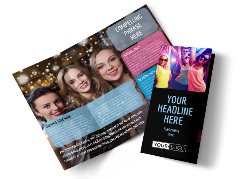 VIP Night Club Party Brochure Template MyCreativeShop - party brochure template