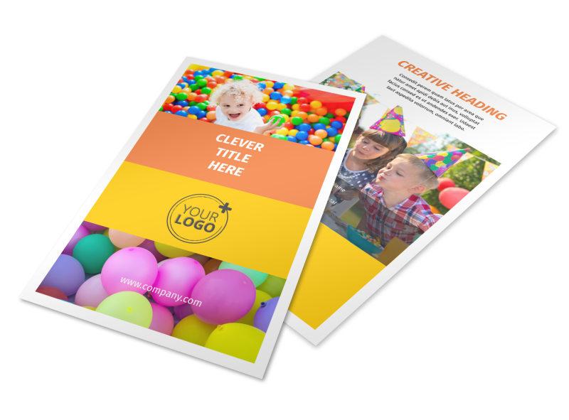 Party Rental Supplies Flyer Template MyCreativeShop