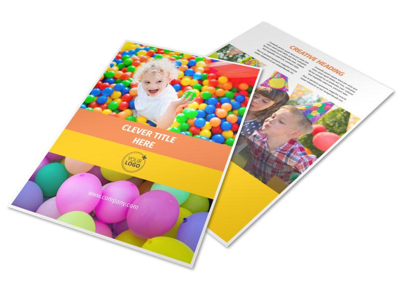 Party Rental Supplies Flyer Template MyCreativeShop - party rental flyer