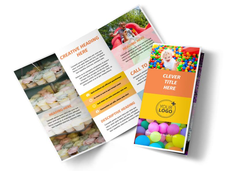 Party Rental Supplies Brochure Template MyCreativeShop - party rental flyer