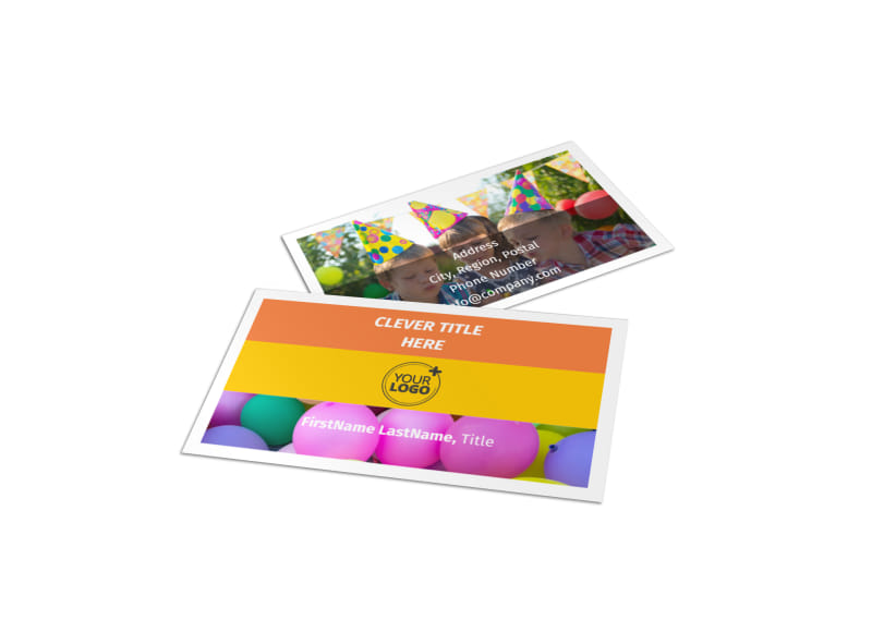 Party Rental Supplies Business Card Template MyCreativeShop - party rental flyer