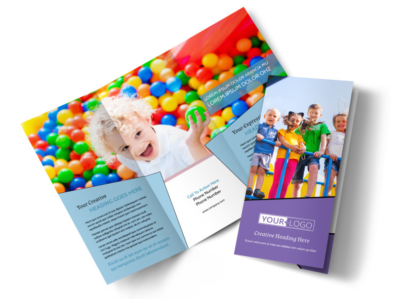 Fun School Party Brochure Template MyCreativeShop