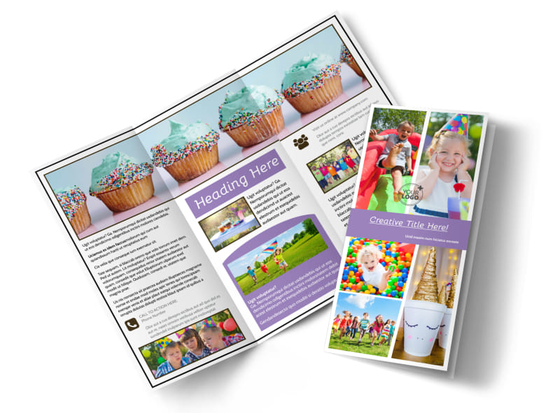 Generic Children Party Brochure Template MyCreativeShop - party brochure template