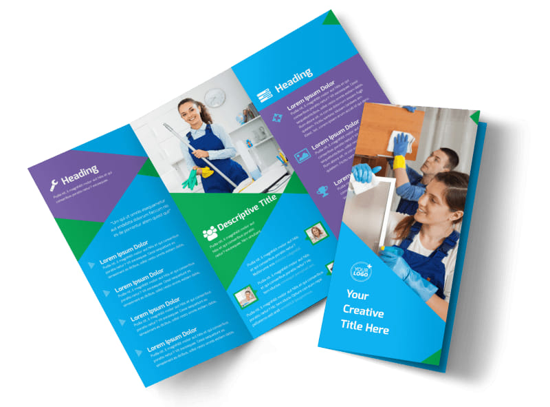 Commercial Cleaning Brochure Template MyCreativeShop - cleaning brochure template