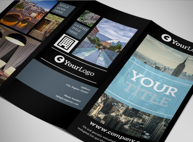 tri fold brochure software