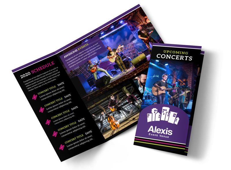Music Concert Brochure Template MyCreativeShop - music flyer template