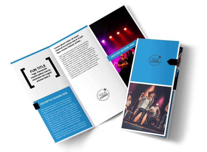 Live Music Band Brochure Template MyCreativeShop - music brochure