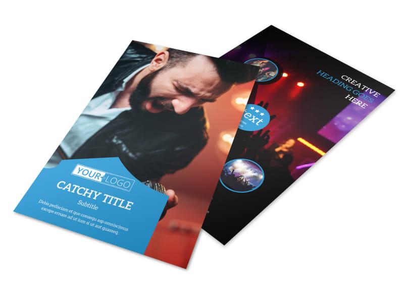Live Music Concert Flyer Template MyCreativeShop