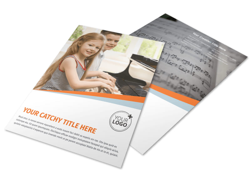 Your Music Lessons Flyer Template MyCreativeShop
