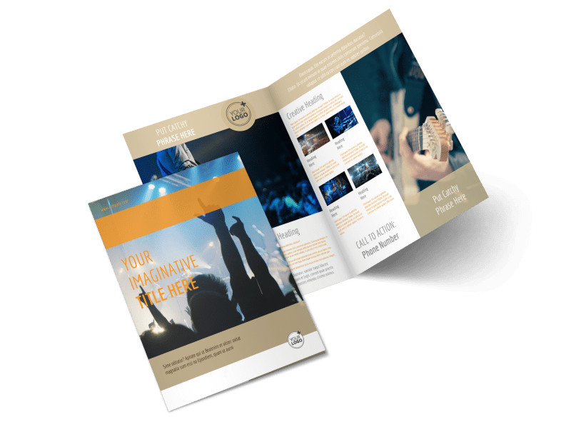 Music Event Brochure Template MyCreativeShop