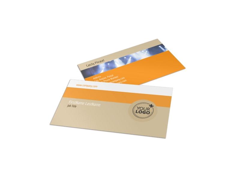 Music Event Business Card Template MyCreativeShop