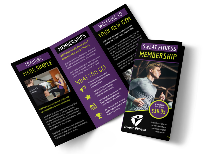 Fitness Gym Brochure Template MyCreativeShop - fitness brochure template