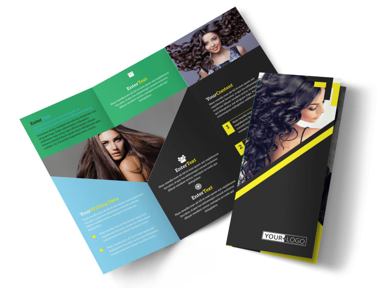 Hair Salon Studio Brochure Template MyCreativeShop - studio brochure