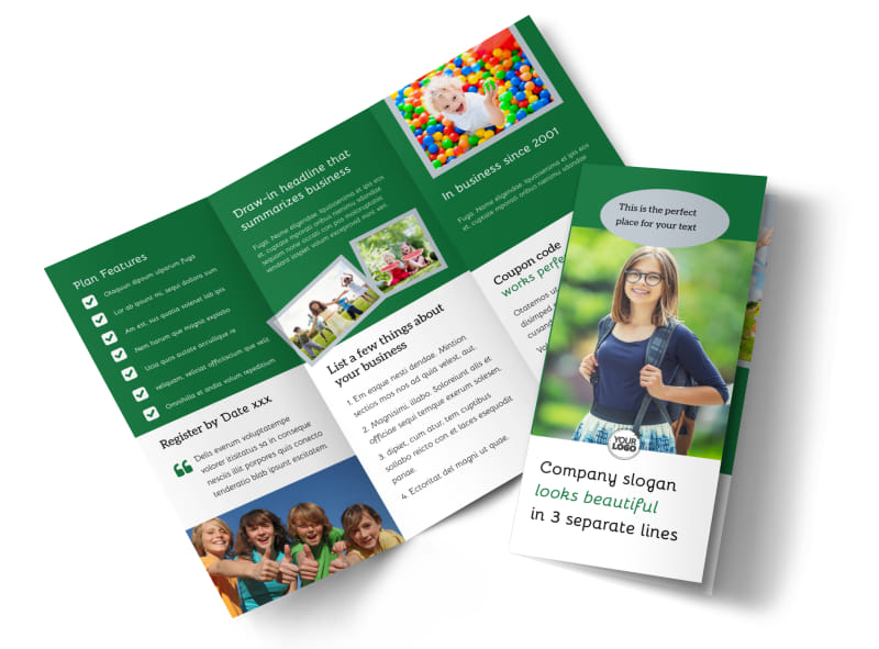 Kids Computer Flyer Template Background In Microsof With Free - blank brochure templates for kids
