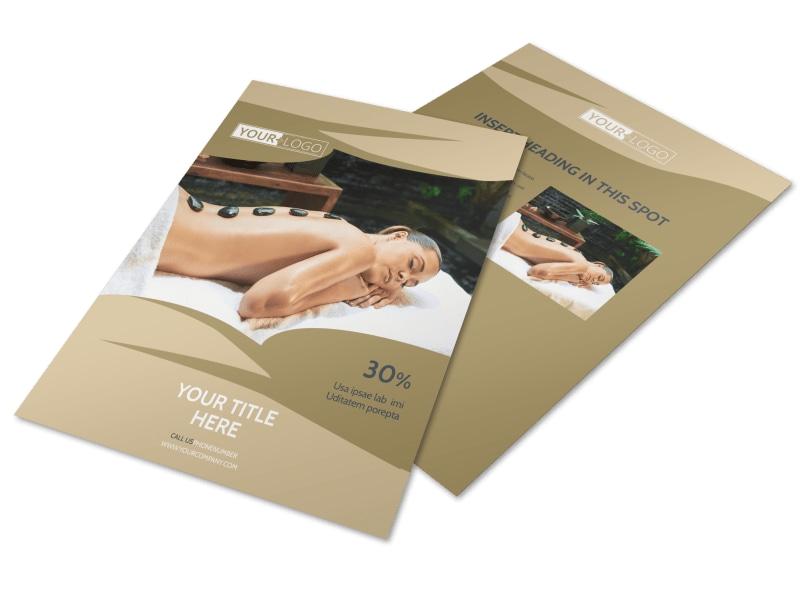 Day Spa Flyer Template MyCreativeShop - spa brochure