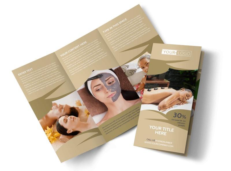 Day Spa Brochure Template MyCreativeShop - spa brochure
