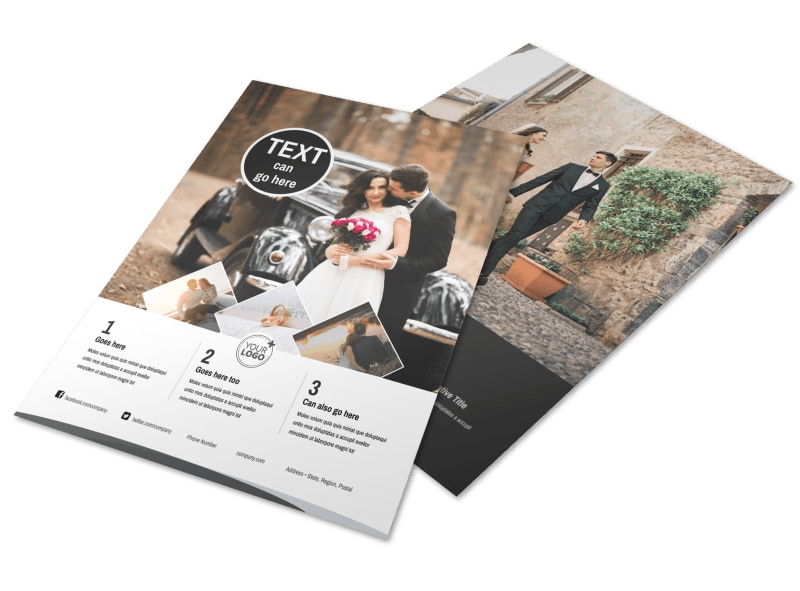 Wedding Photography Package Flyer Template MyCreativeShop - wedding brochure template
