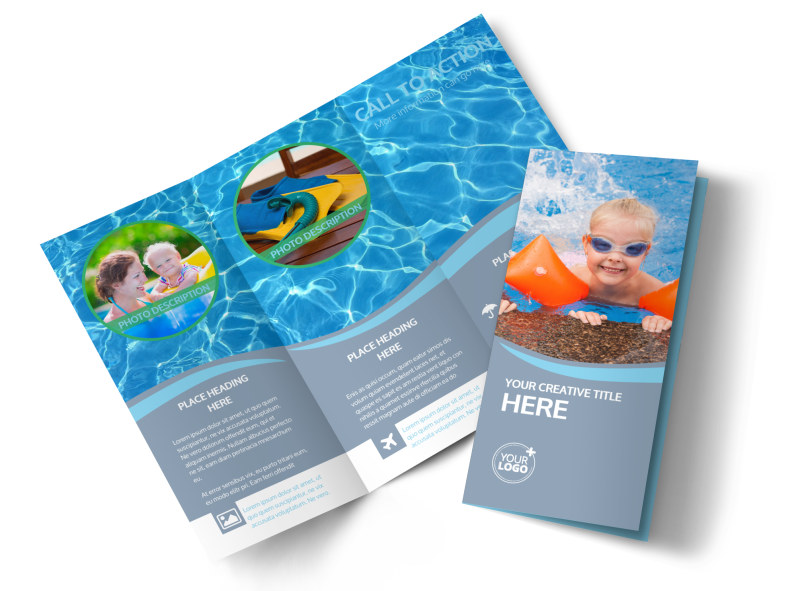 Kids Pool Party Brochure Template MyCreativeShop - party brochure template