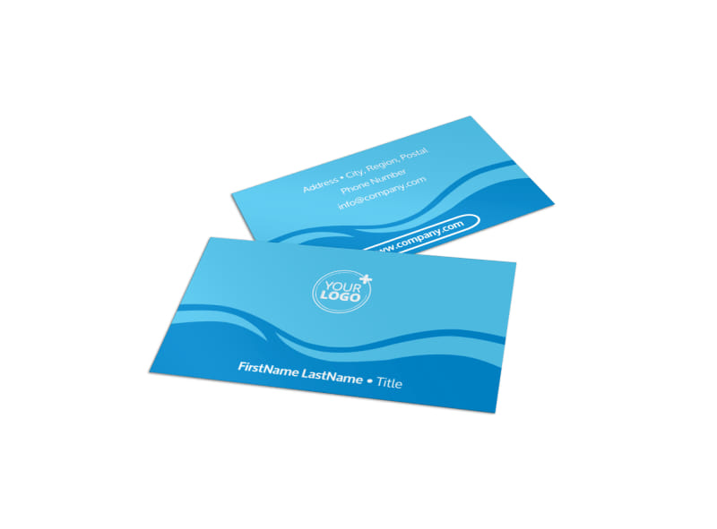 Pool Cleaning Business Card Template MyCreativeShop