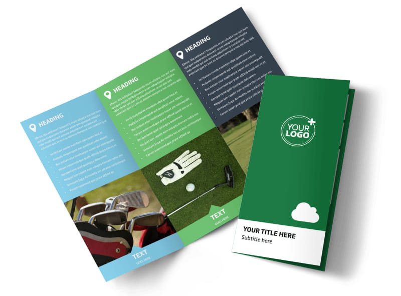 Golf Membership Brochure Template MyCreativeShop
