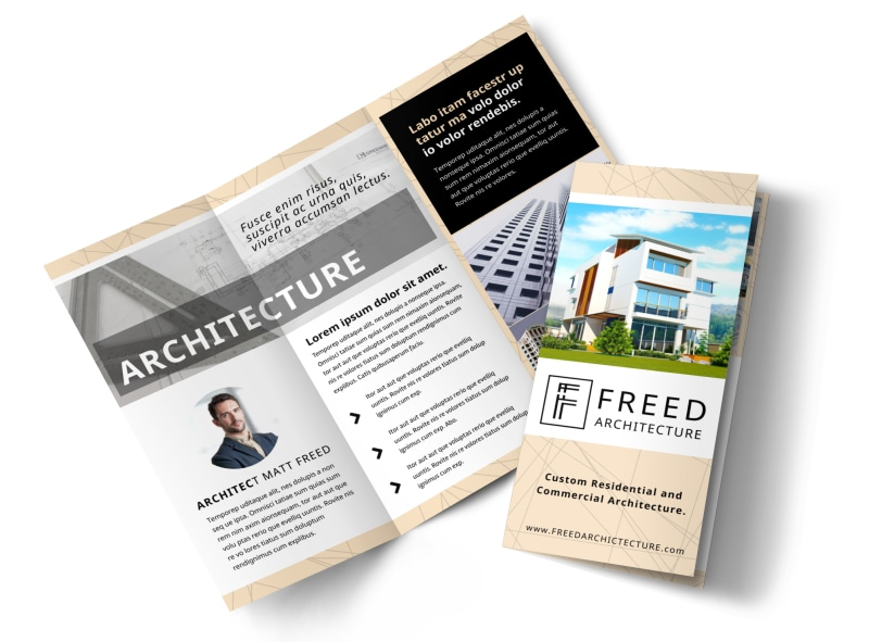 Architectural Firm Brochure Template MyCreativeShop - architecture brochure template