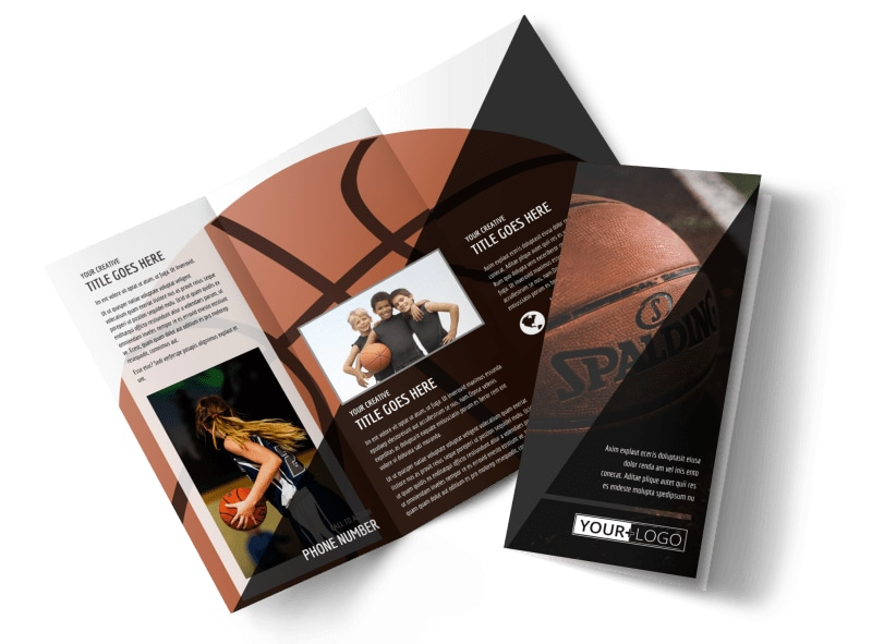 Weekend Basketball Camp Brochure Template MyCreativeShop - sports brochure
