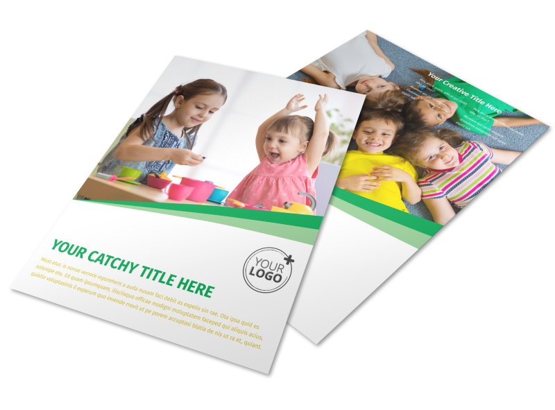 Child Daycare Flyer Template MyCreativeShop - daycare flyer template