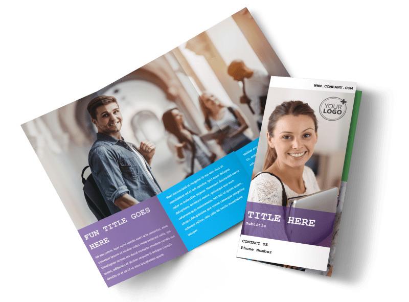 University Studies Brochure Template MyCreativeShop
