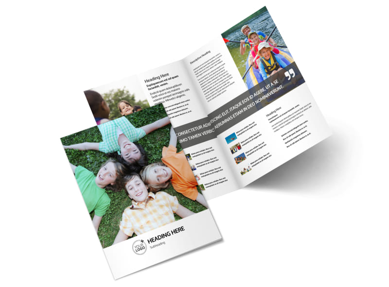 Youth Summer Camp Brochure Template MyCreativeShop