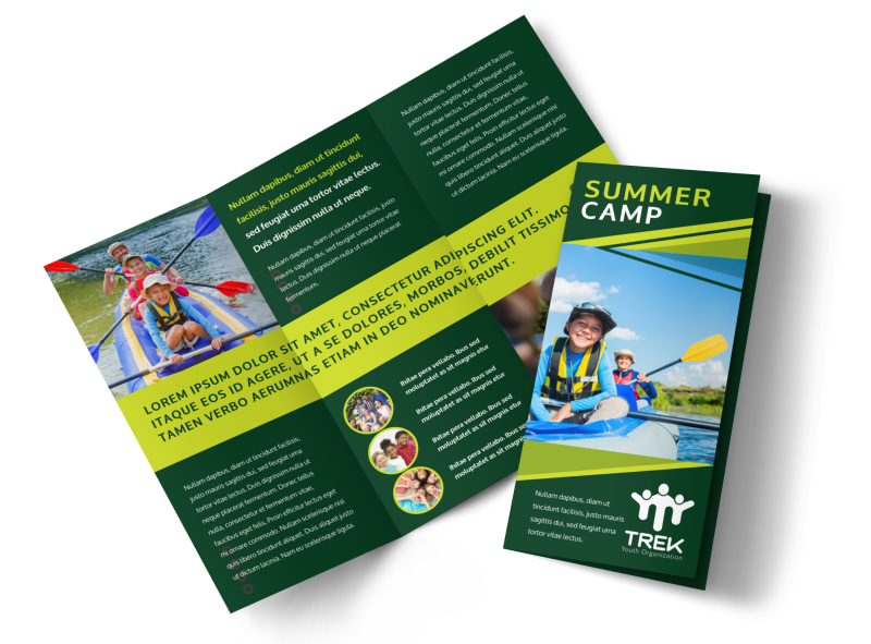 Youth Summer Camp Brochure Template MyCreativeShop - Summer Camp Flyer Template