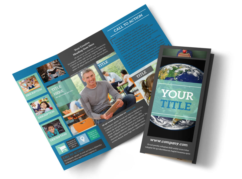Language School Brochure Template MyCreativeShop