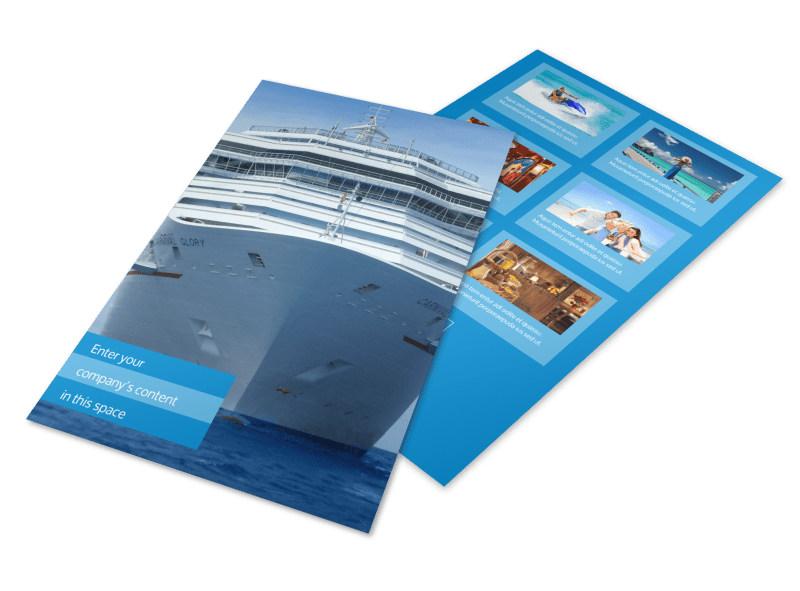 Cruise Ship Getaway Flyer Template MyCreativeShop