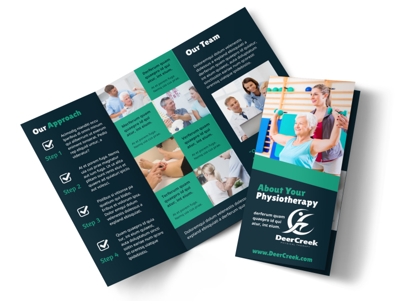 Physiotherapy Brochure Template MyCreativeShop - product brochure template