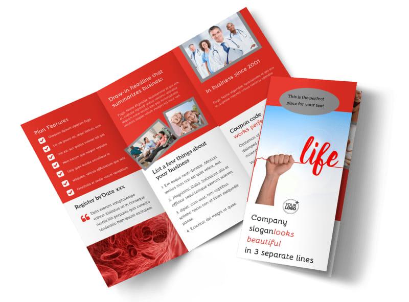 Blood Donation Centers Brochure Template MyCreativeShop