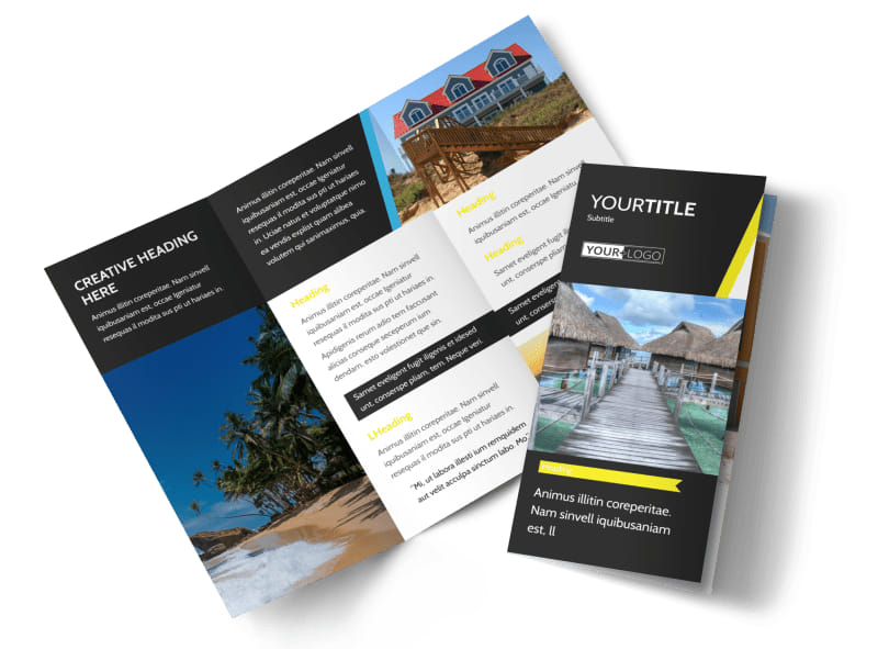 Tropical Villa Rentals Brochure Template MyCreativeShop - Product Brochure Template