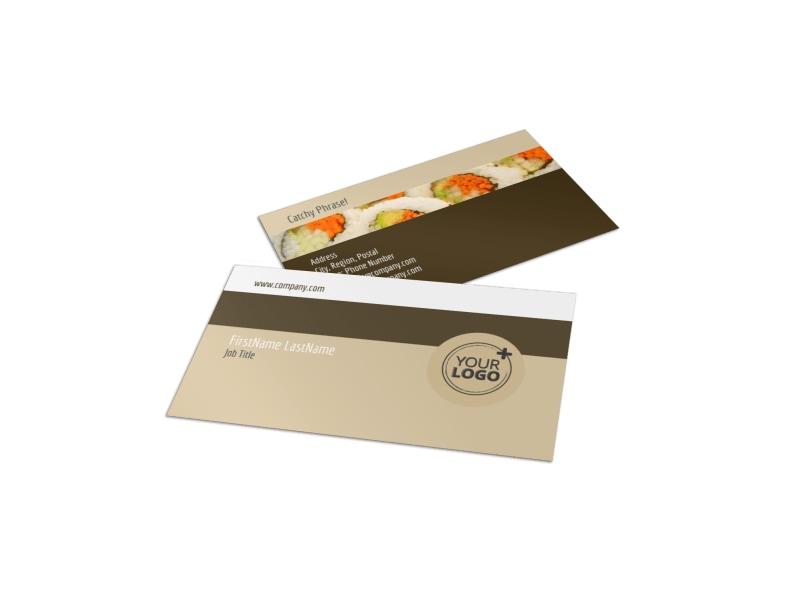 Asian Restaurant Business Card Template MyCreativeShop