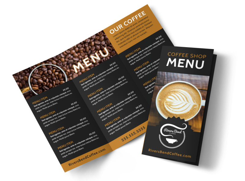 Coffee Shop Brochure Template MyCreativeShop