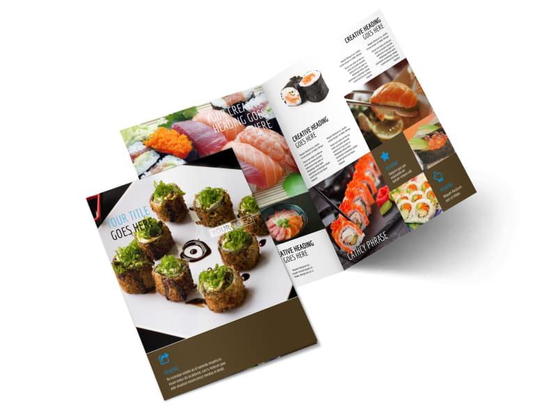 Sushi Restaurant Brochure Template MyCreativeShop