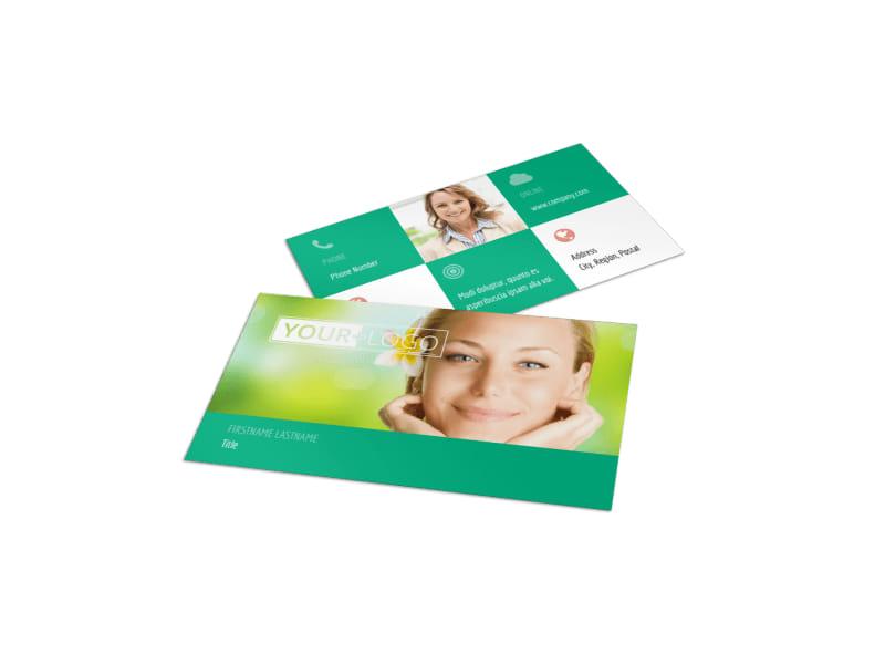 Skin Care Clinic Business Card Template MyCreativeShop