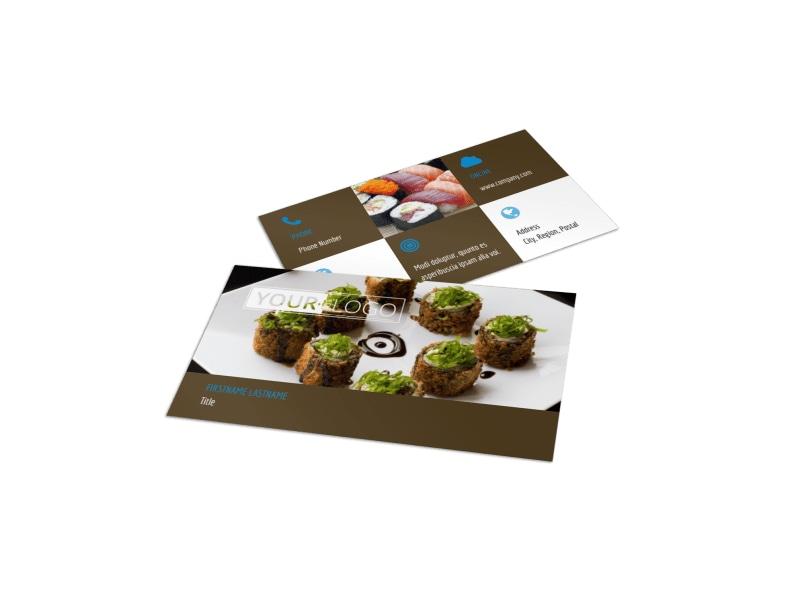 Sushi Restaurant Business Card Template MyCreativeShop