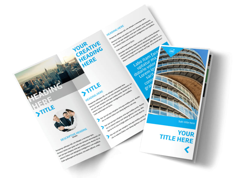 Commercial Real Estate Property Brochure Template MyCreativeShop