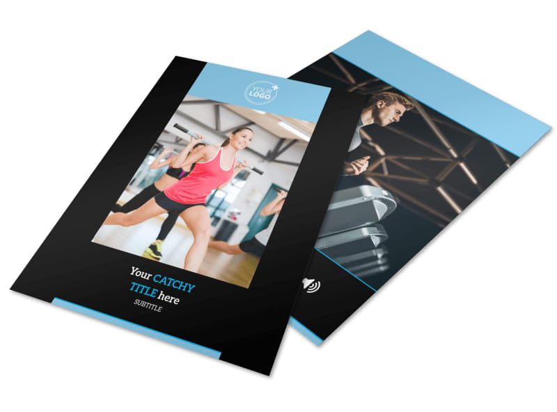 Upscale Fitness Gym Flyer Template MyCreativeShop - Fitness Brochure Template