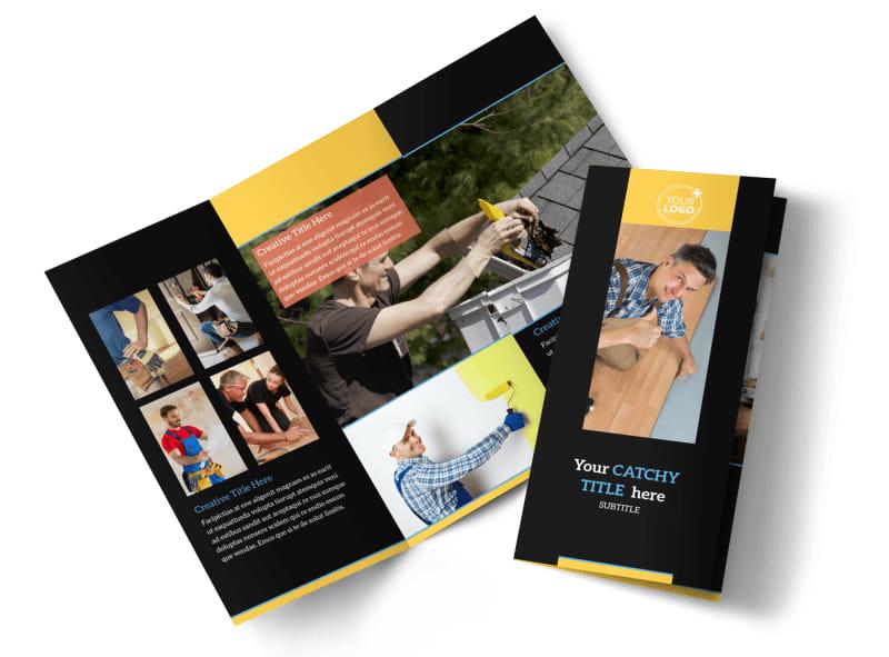 Handyman Service Brochure Template MyCreativeShop - services brochure