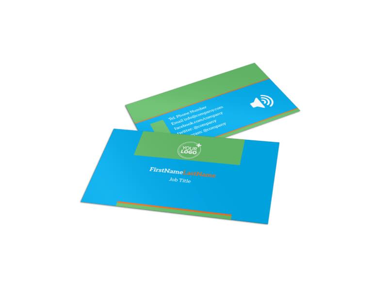 Nutrition Education Business Card Template MyCreativeShop